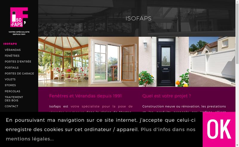 Capture d'écran du site de Isofaps'
