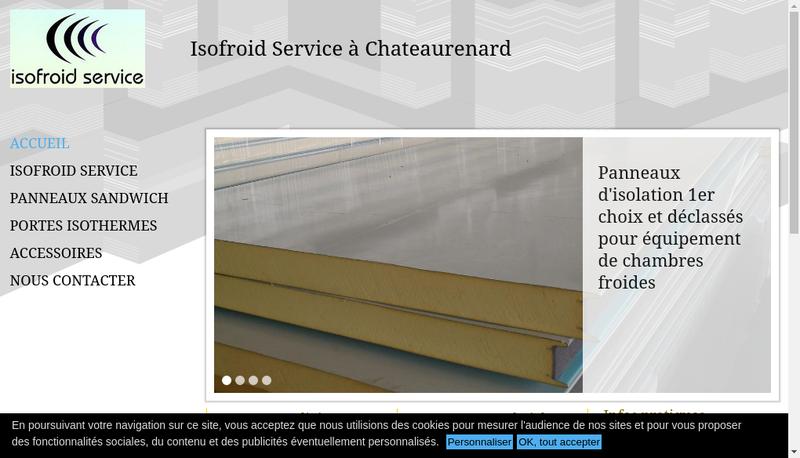 Capture d'écran du site de Isofroid Service