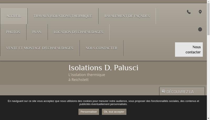 Capture d'écran du site de Isolations d'Palusci