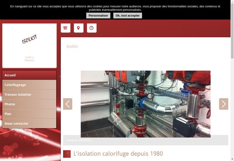 Capture d'écran du site de Isolkit