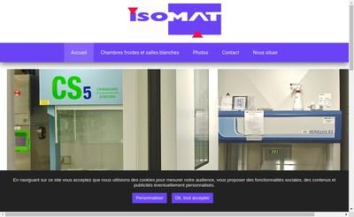 Site internet de Isomat Isolation Materiaux