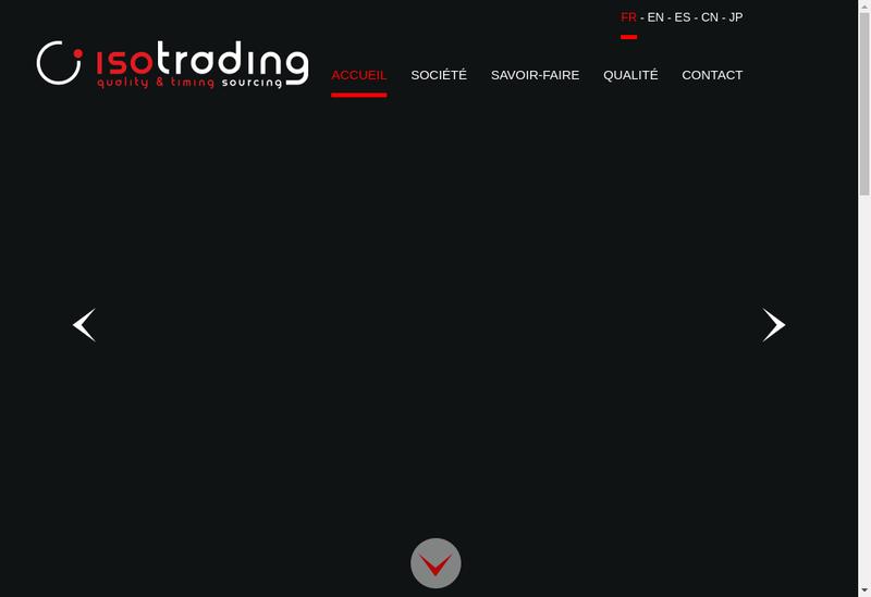 Capture d'écran du site de Isotrading