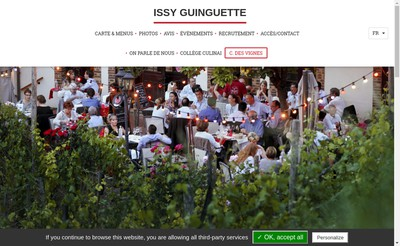 Site internet de Issy Guinguette