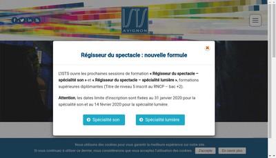 Site internet de Institut Superieur des Techniques du Spectacle