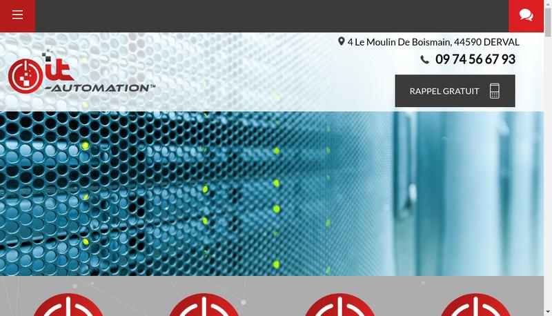 Capture d'écran du site de IT Automation