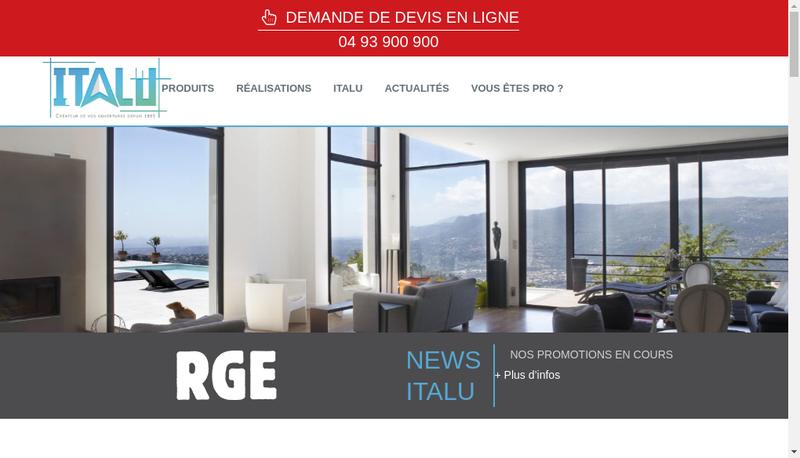 Capture d'écran du site de Italu
