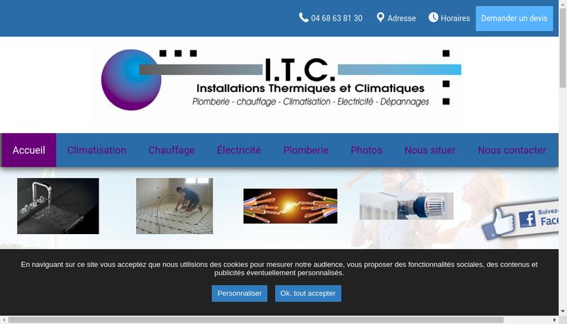 Capture d'écran du site de Installation Thermique et Climatique