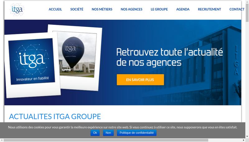 Capture d'écran du site de Institut Technique Gaz et Air