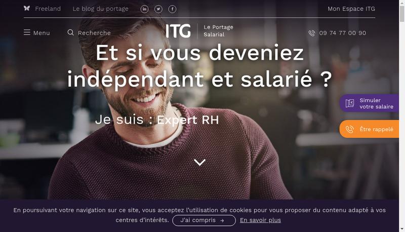 Capture d'écran du site de Institut du Temps Gere