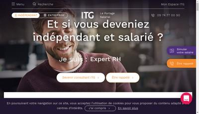 Site internet de ITG Conseil SAS