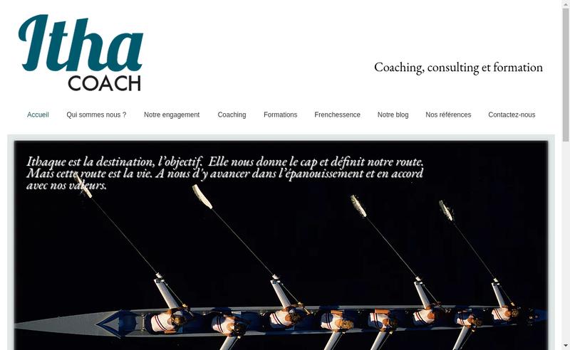 Capture d'écran du site de IthaCoach