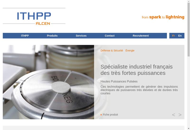 Capture d'écran du site de ITHPP