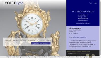 Site internet de Hotel des Ventes de Lyon Presqu'Ile