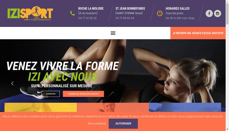 Capture d'écran du site de Consult'N Sport