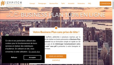 Site internet de Izypitch