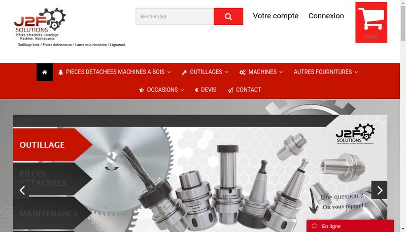 Capture d'écran du site de J2F Solutions