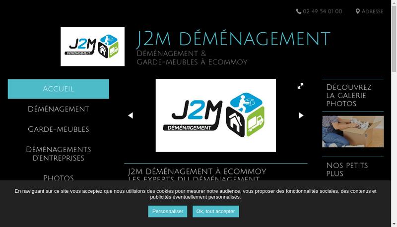 Capture d'écran du site de J2M Demenagement
