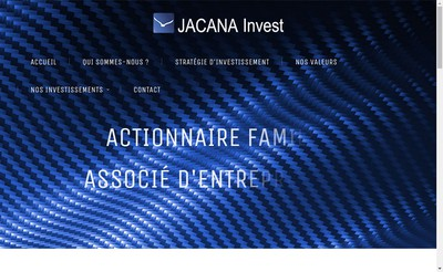Site internet de Jacana Invest