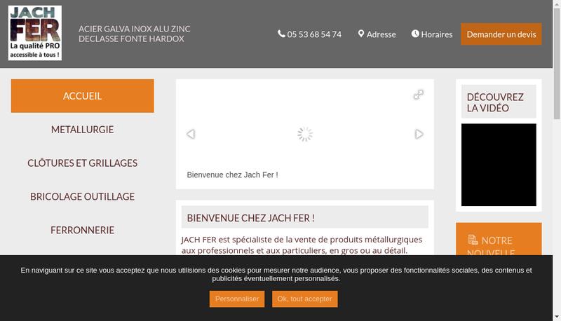 Capture d'écran du site de Jach Fer