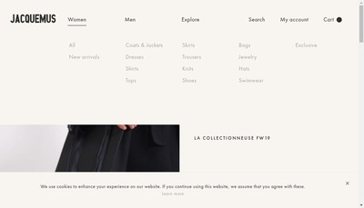 Site internet de Jacquemus