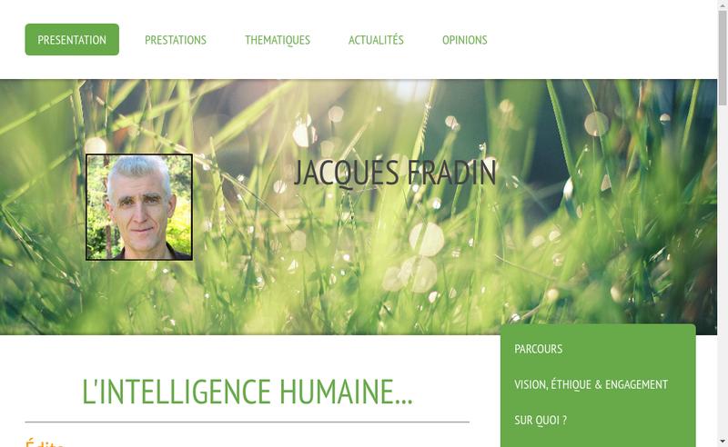 Capture d'écran du site de Jacques Fradin Consultant