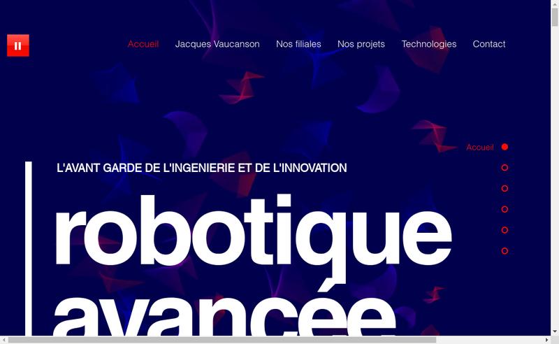 Capture d'écran du site de Jacques Vaucanson