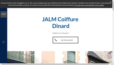 Site internet de Jalm Coiffure By Dominique Leray