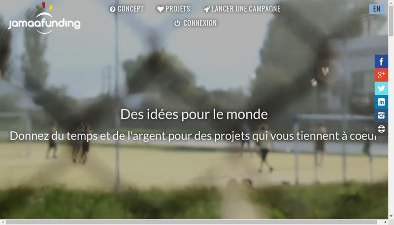 Capture d'écran du site de Jamaafunding