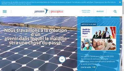 Site internet de Janssen