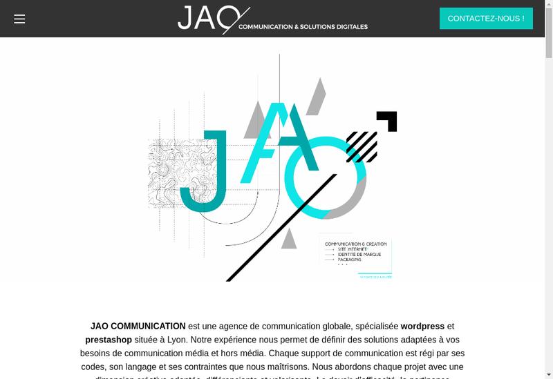 Capture d'écran du site de Jao Communication