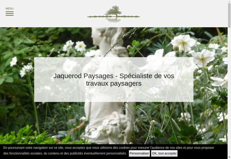 Capture d'écran du site de Jacquerod Paysages