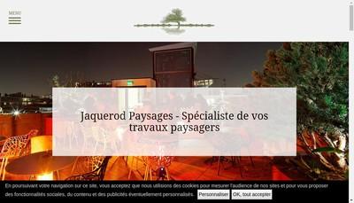 Site internet de Jacquerod Paysages