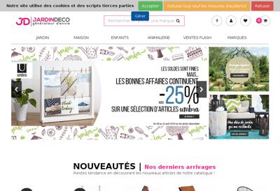 Capture d'écran du site de Jardin Deco
