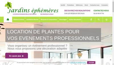 Site internet de SARL Jardins Ephemeres