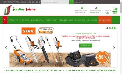Site internet de Jardins Loisirs Idf