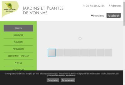 Site internet de Jardins et Plantes de Vonnas