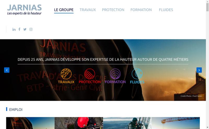 Capture d'écran du site de Groupe Jarnias