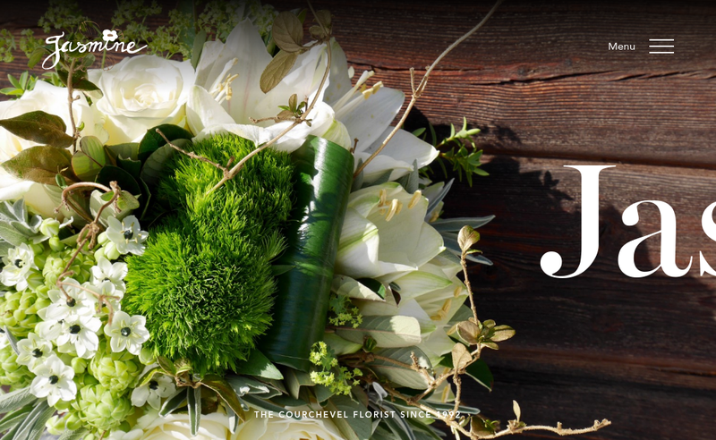 Capture d'écran du site de Jasmine Fleurs