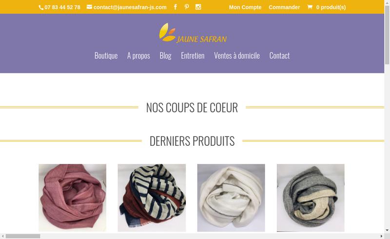Capture d'écran du site de Raymonde Amand