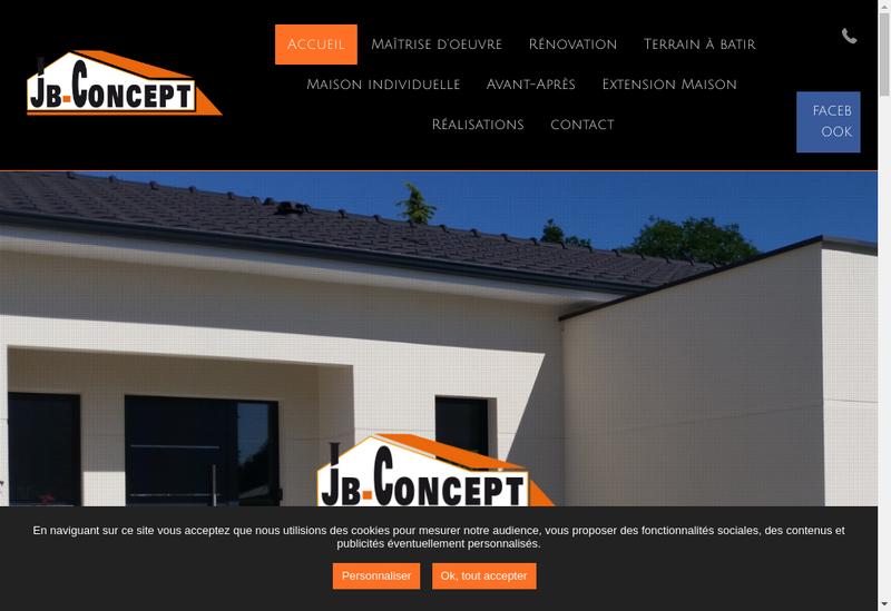 Capture d'écran du site de Jb Concept