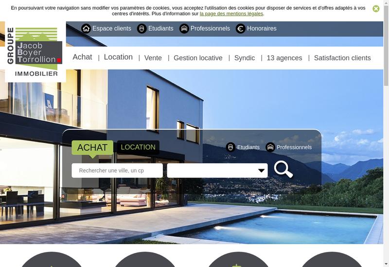 Capture d'écran du site de Jacob Boyer Torrollion