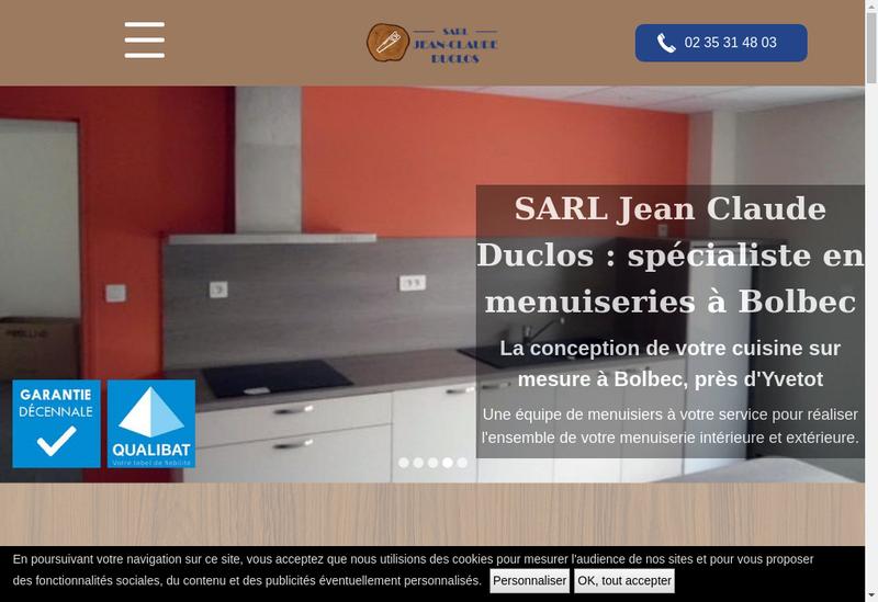Capture d'écran du site de SARL Jean Claude Duclos