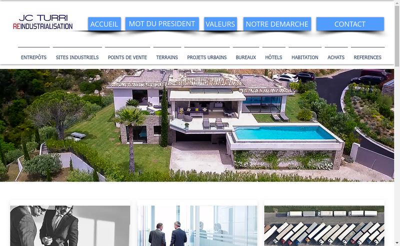 Capture d'écran du site de Jc Turri Reindustrialisation
