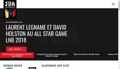 Capture d'écran du site de JDA Dijon Basket