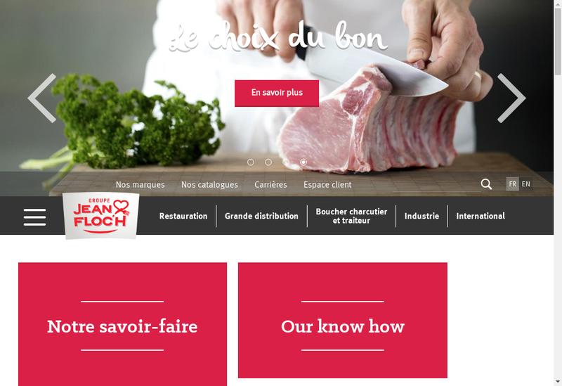 Capture d'écran du site de Societe Jean Floch