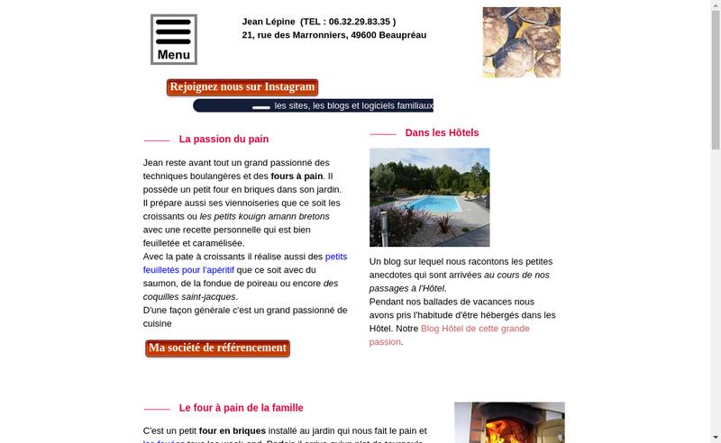 Capture d'écran du site de Jean Lepine