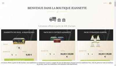 Site internet de SAS Jeannette 1850