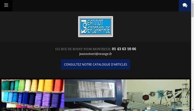 Site internet de Jeannot Serigraphie