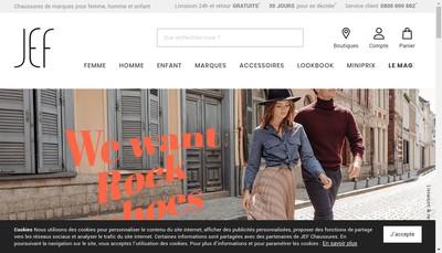 Site internet de Chaussures Jef