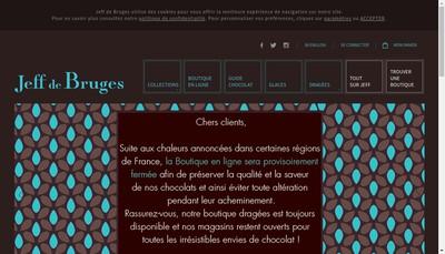 Site internet de Jeff de Bruges SAS